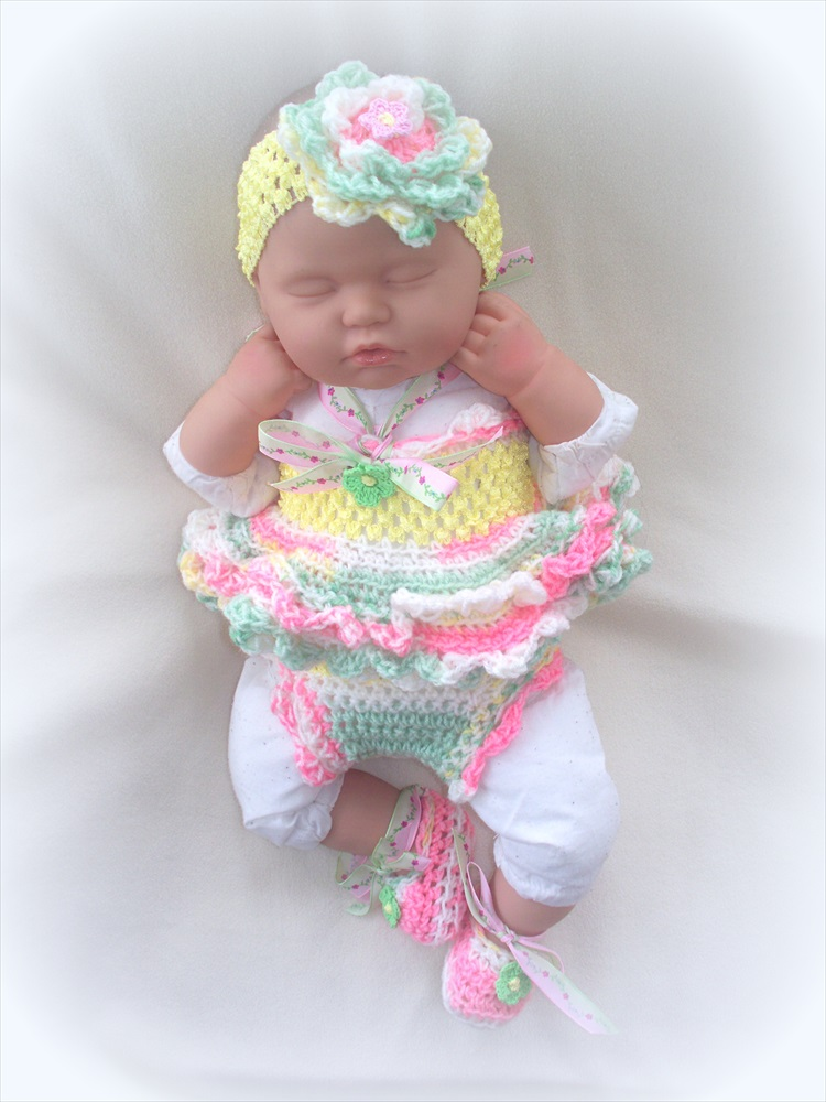 9f781b536389 SALE Newborn Baby Girl Little Sunshine Baby Doll Top, Diaper Cover,  Headband And Shoes Set on Luulla